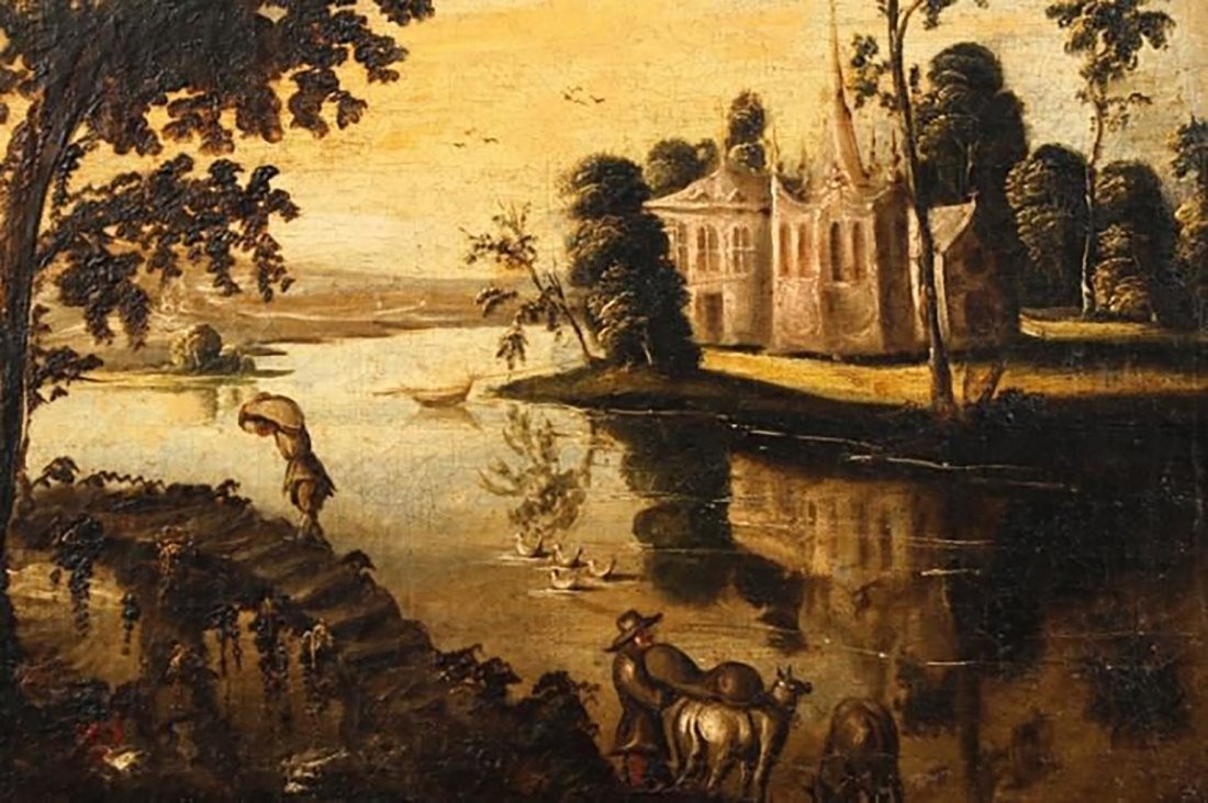 Figures In A Arcadian Landscape By Gaspard Dughet - 3
