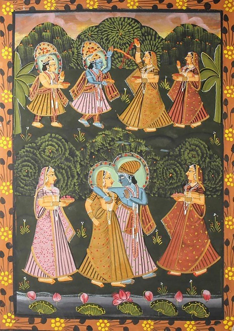 Original Indian Oil After Indischer Maler