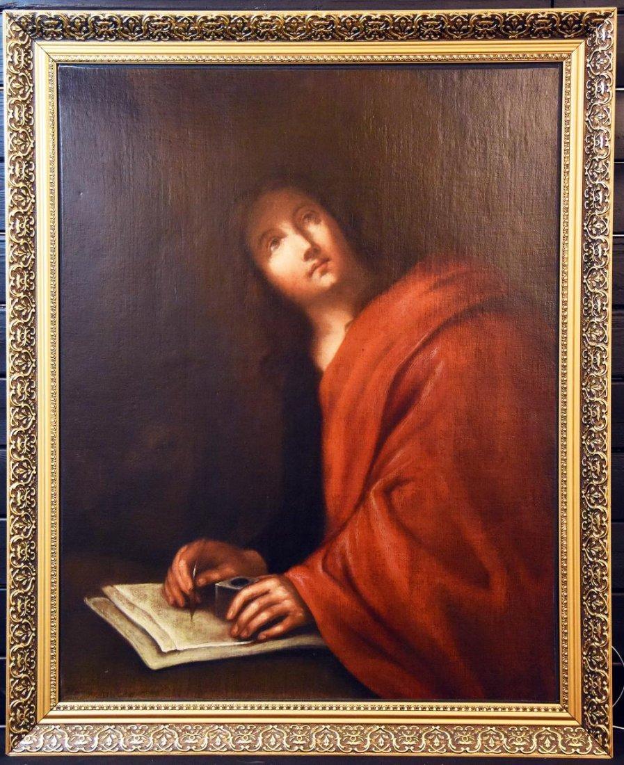 """Italian Oil Painting Entitled """"Saint John Evangelist"""""""