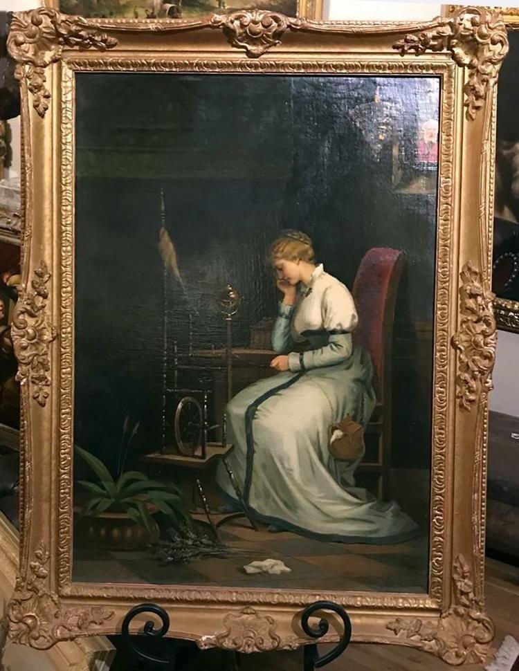 Victorian Lady Portrait Painting By Livio Molino