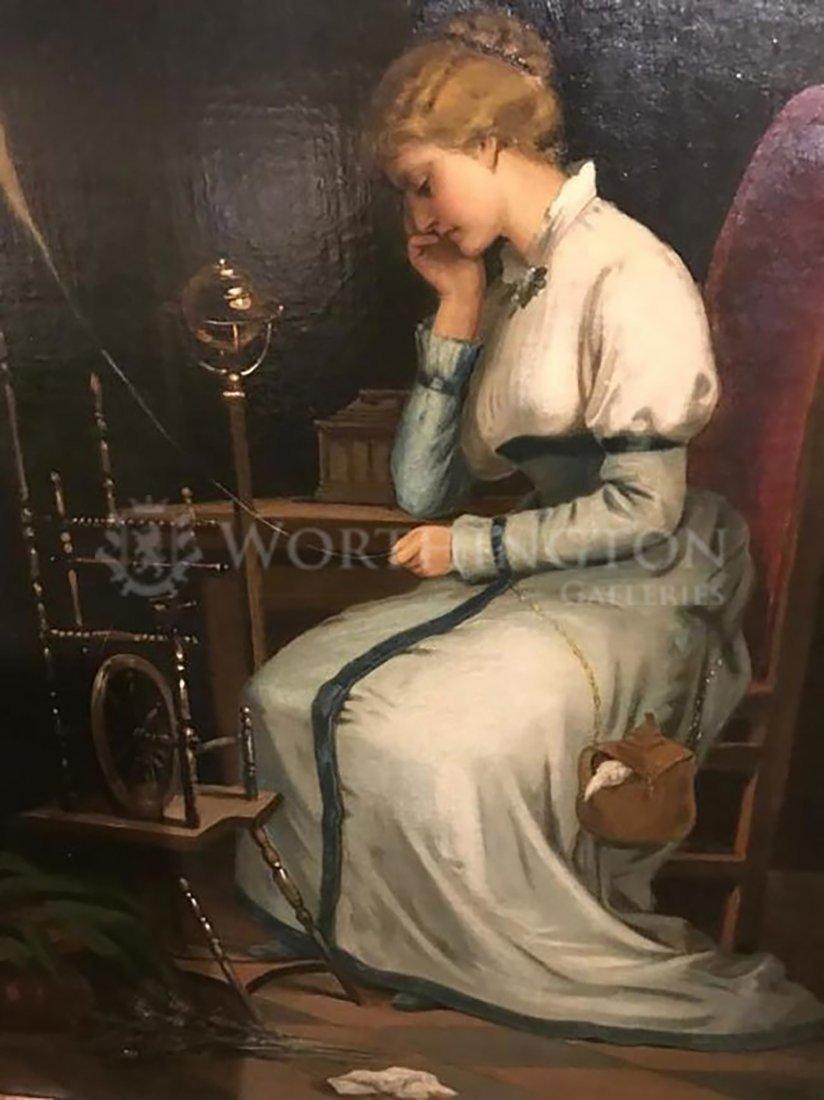 Victorian Lady Portrait Painting By Livio Molino - 2
