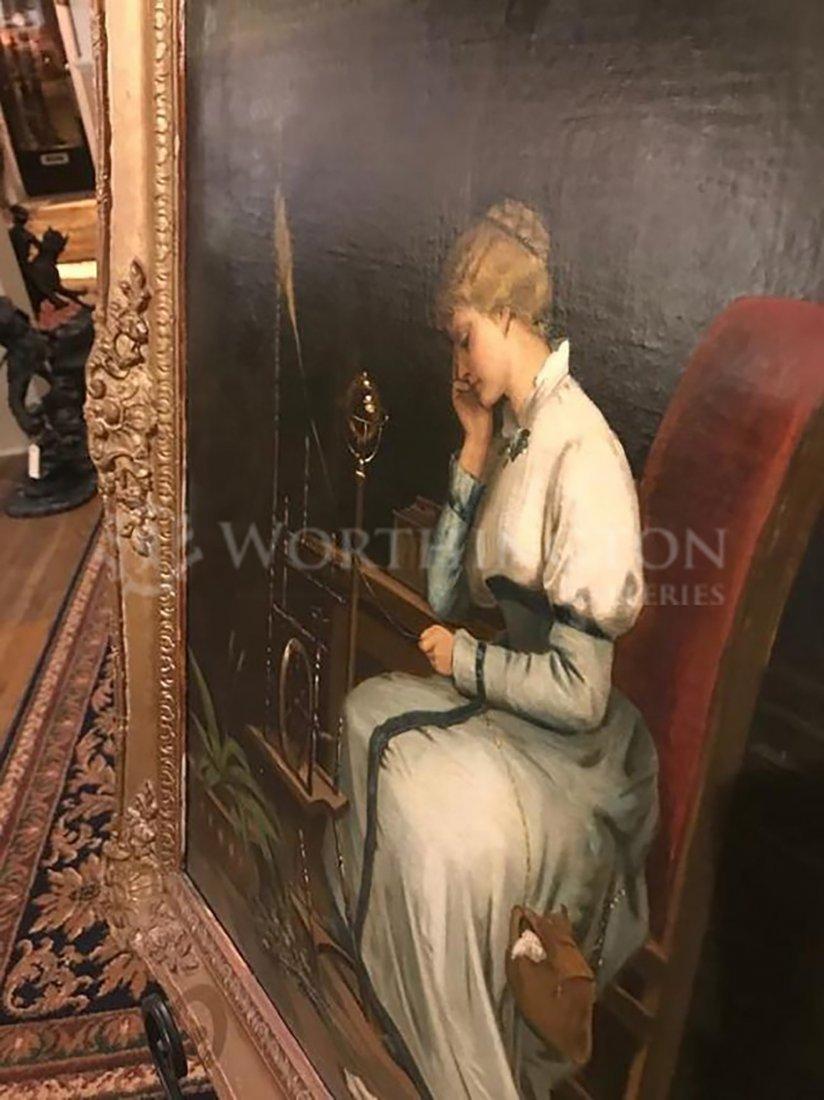 Victorian Lady Portrait Painting By Livio Molino - 4