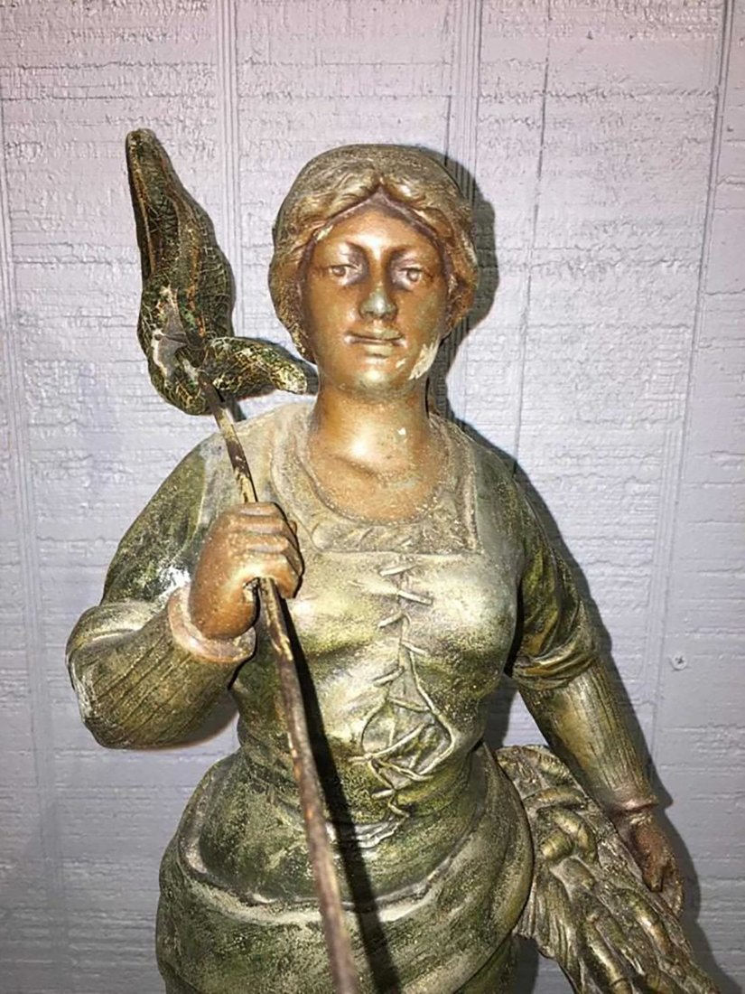 Large French  Sculpture Of Female Figure - 2