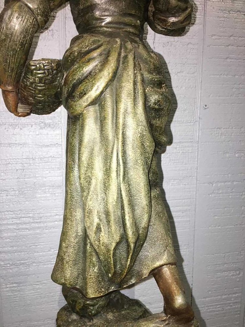 Large French  Sculpture Of Female Figure - 9