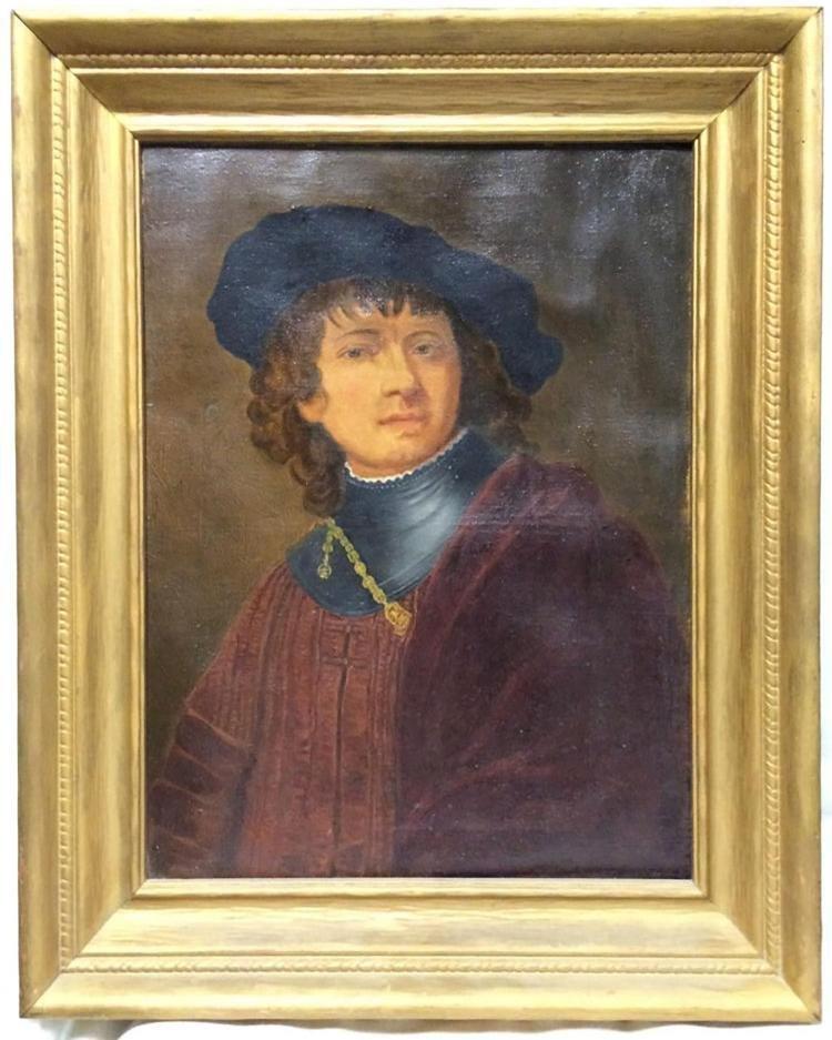 "Rembrandt ""Self Portrait as a Young Man"""