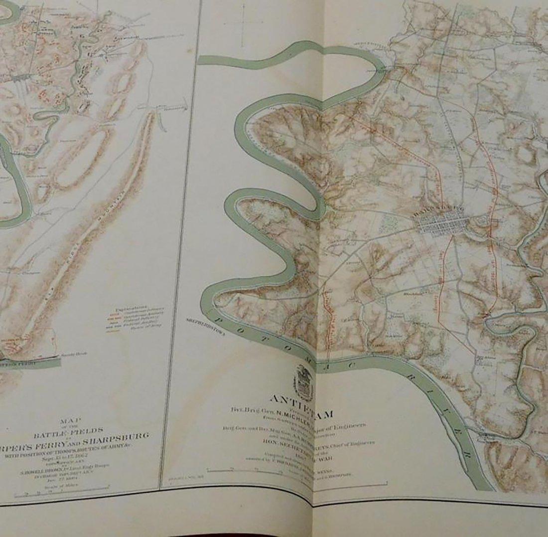 Rare Atlas Maps of Union And Confederate Armies - 10