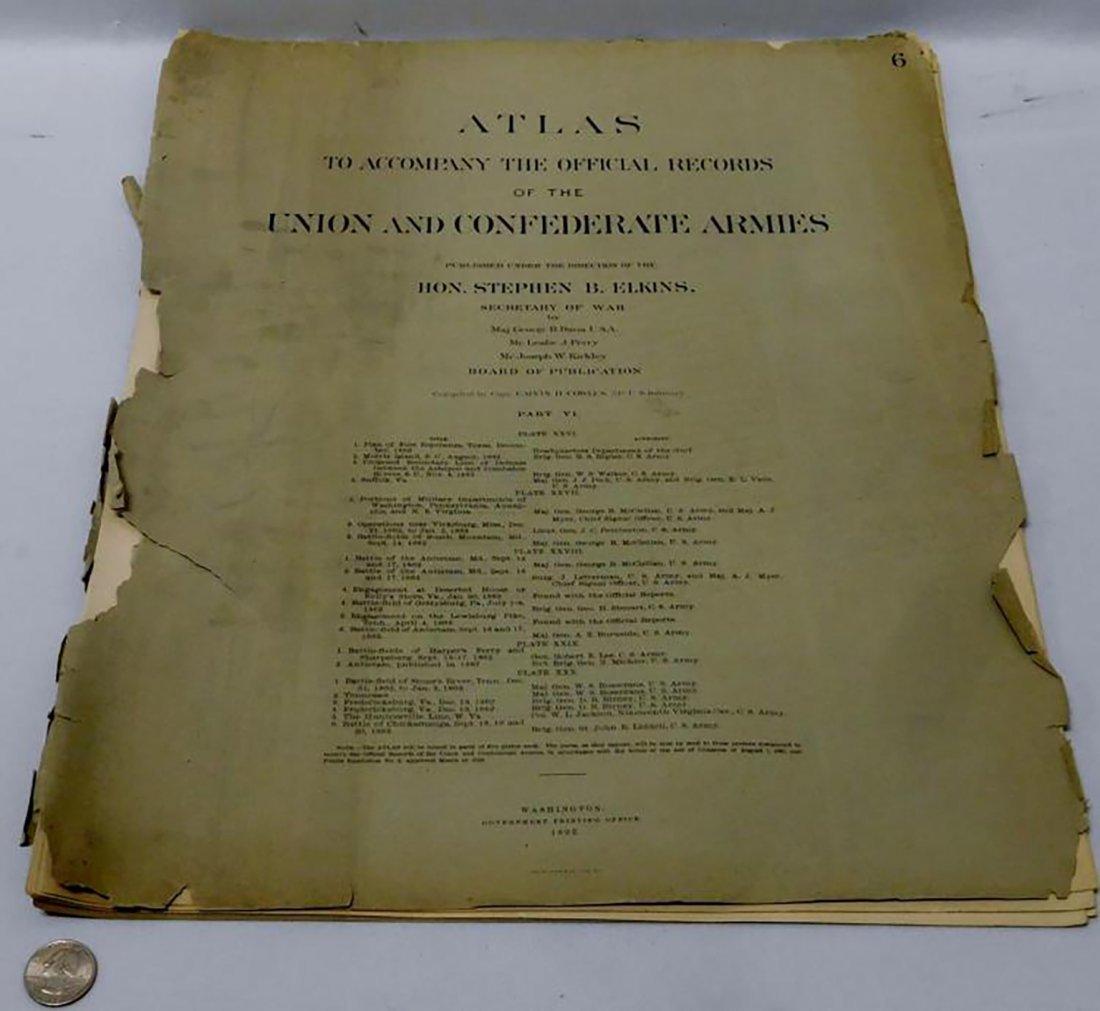 Rare Atlas Maps of Union And Confederate Armies