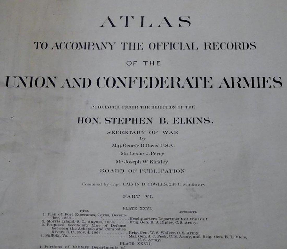 Rare Atlas Maps of Union And Confederate Armies - 2