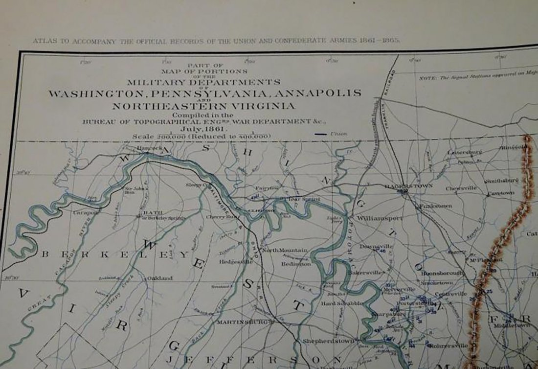 Rare Atlas Maps of Union And Confederate Armies - 7