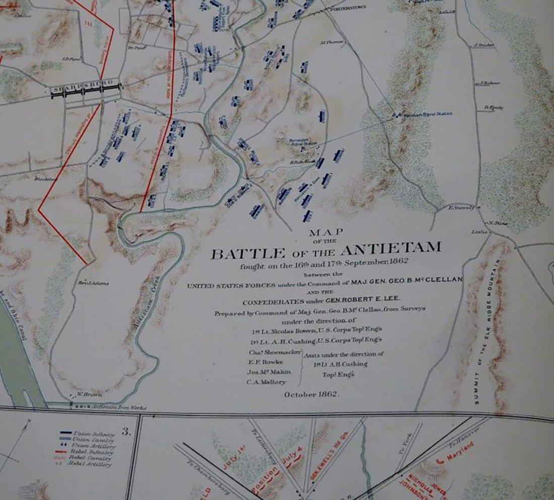 Rare Atlas Maps of Union And Confederate Armies - 8