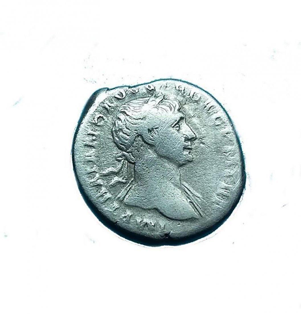 Ancient Roman Silver Coin Denarius Traianus Traian