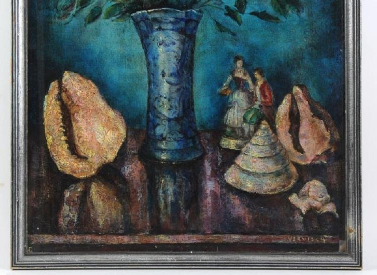 Modern Still LIfe Floral Oil Painting By Jean Vervisch - 3