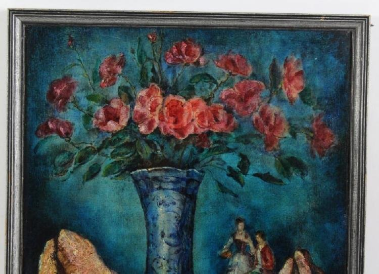 Modern Still LIfe Floral Oil Painting By Jean Vervisch - 4