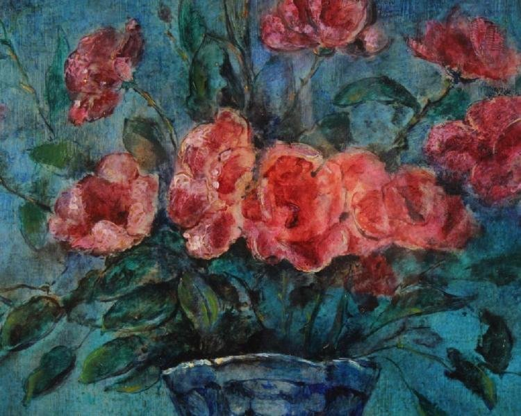 Modern Still LIfe Floral Oil Painting By Jean Vervisch - 5