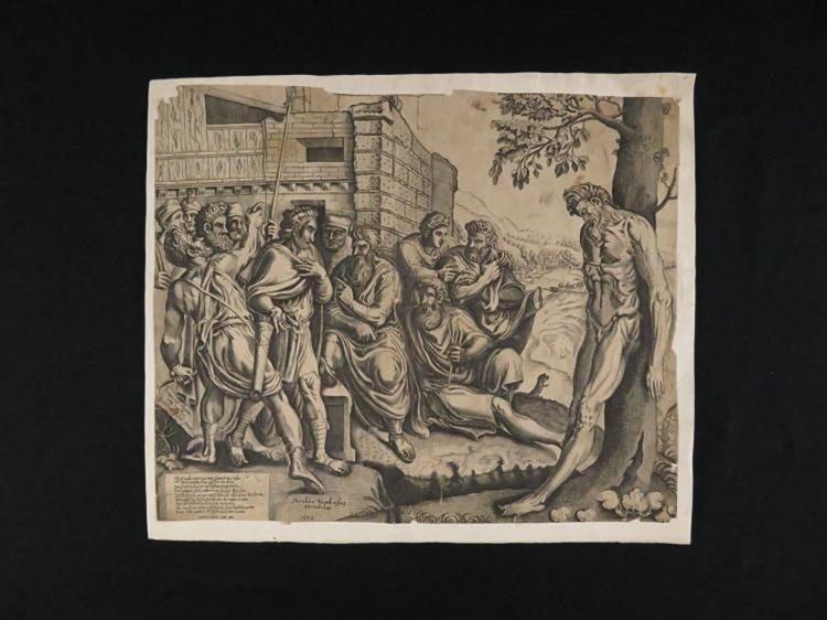 "Frans Floris Engraving Entitled ""Gesta Romanarum"" - 2"