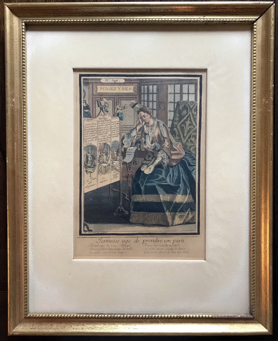 Satirical Hand Colored Etchings By Nicolas Guerard - 2