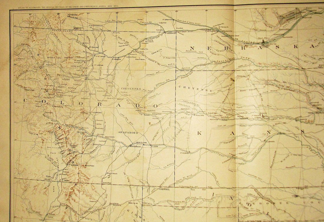 Large Antique 1867 Map of Western Territories - 3