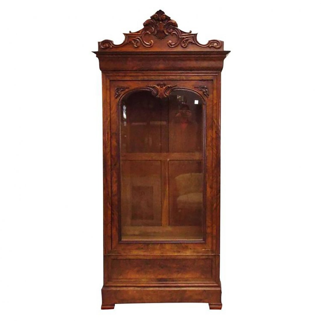 19th Century Louis Philippe Walnut Display Cabinet