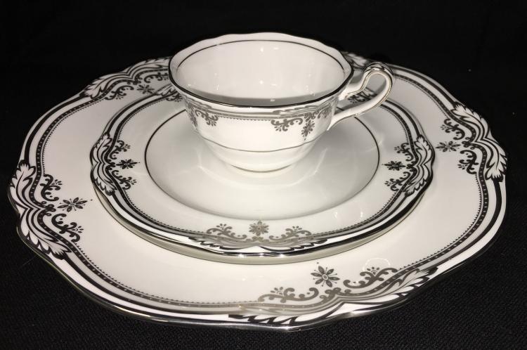 Spode Bone China Dinnerware Stafford Platinum Pattern