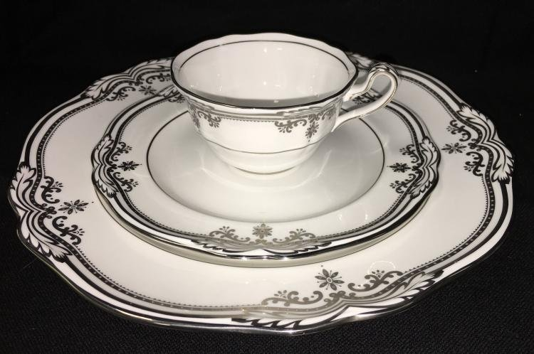 Spode Bone China Dinnerware Stafford Platinum Pattern