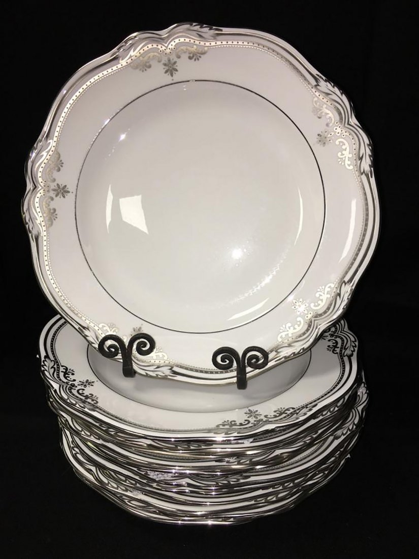 Spode Bone China Dinnerware Stafford Platinum Pattern - 3