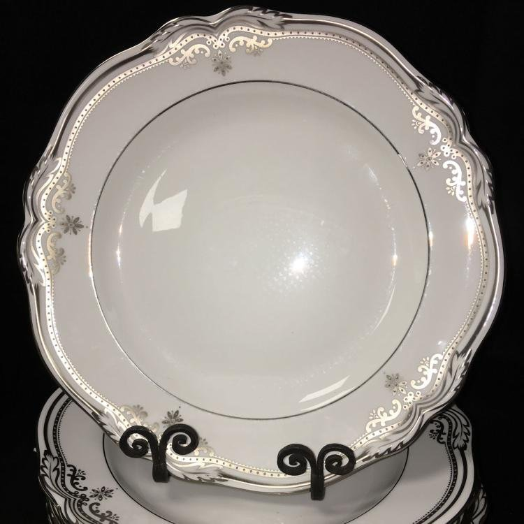 Spode Bone China Dinnerware Stafford Platinum Pattern - 4