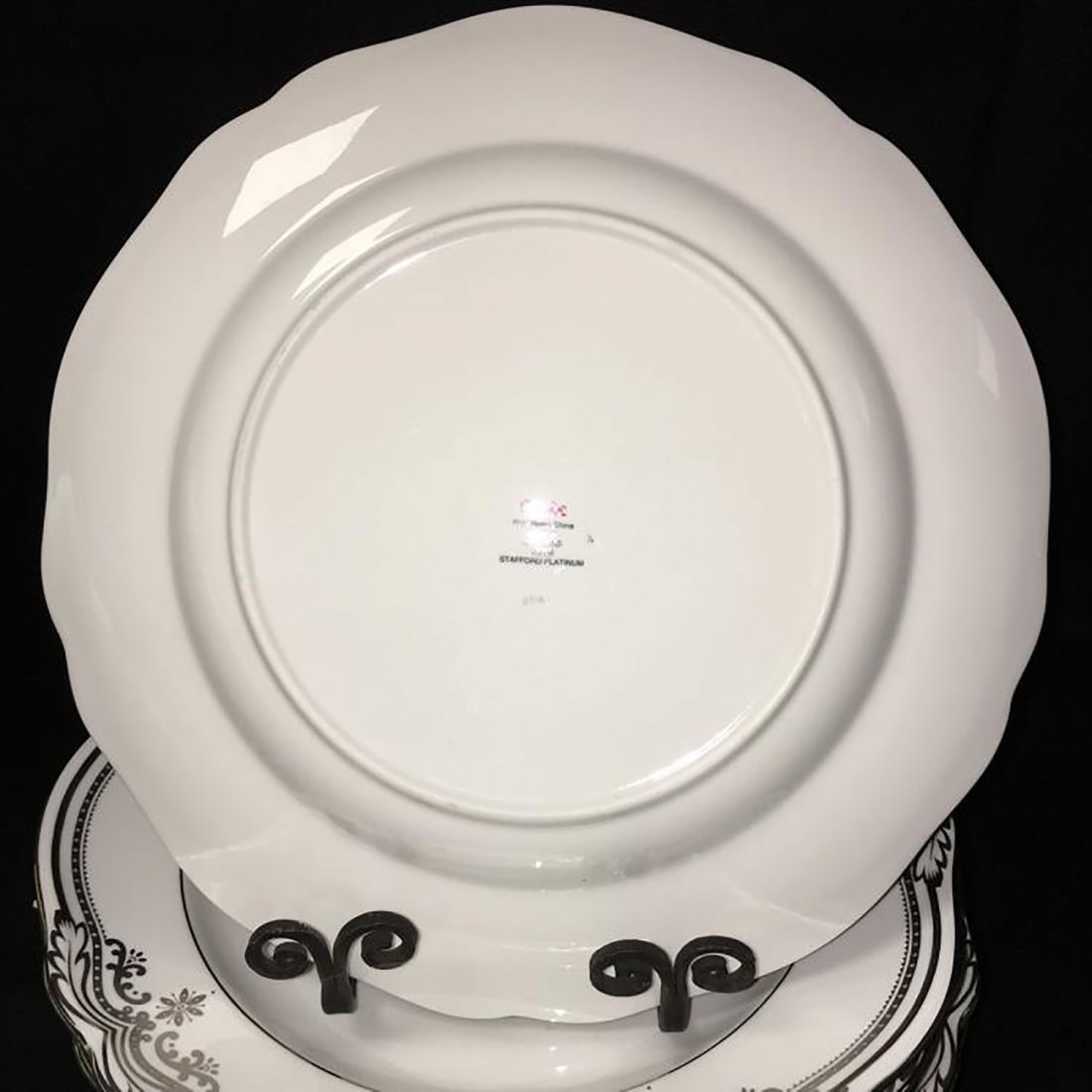 Spode Bone China Dinnerware Stafford Platinum Pattern - 5