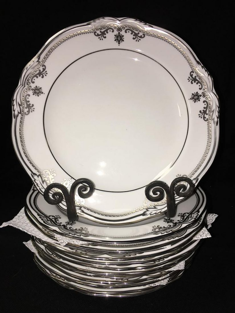 Spode Bone China Dinnerware Stafford Platinum Pattern - 7