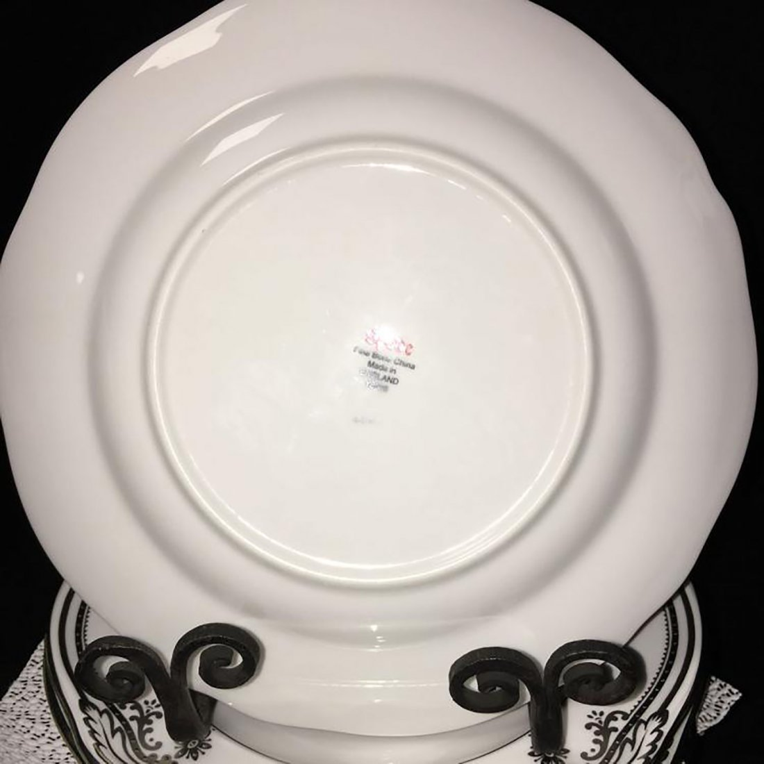 Spode Bone China Dinnerware Stafford Platinum Pattern - 8