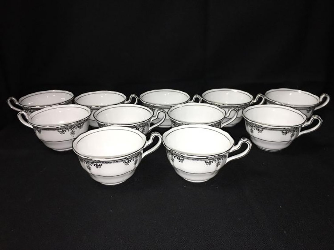 Spode Bone China Dinnerware Stafford Platinum Pattern - 9