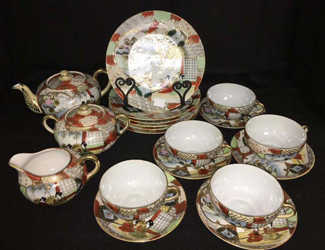 Antique Marked 19 Piece Hand Painted Nippon Porcelain