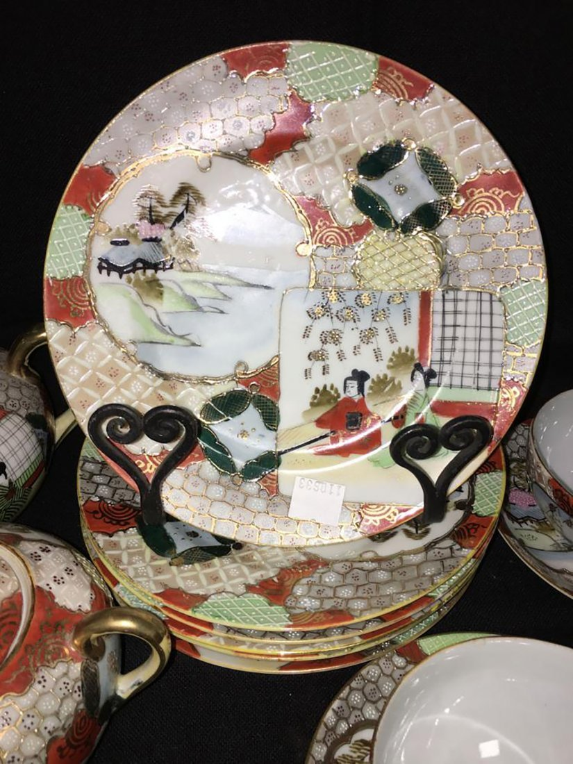 Antique Marked 19 Piece Hand Painted Nippon Porcelain - 2