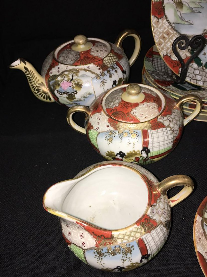 Antique Marked 19 Piece Hand Painted Nippon Porcelain - 3