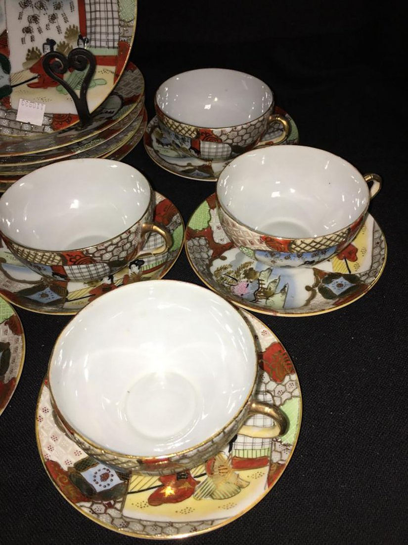 Antique Marked 19 Piece Hand Painted Nippon Porcelain - 4