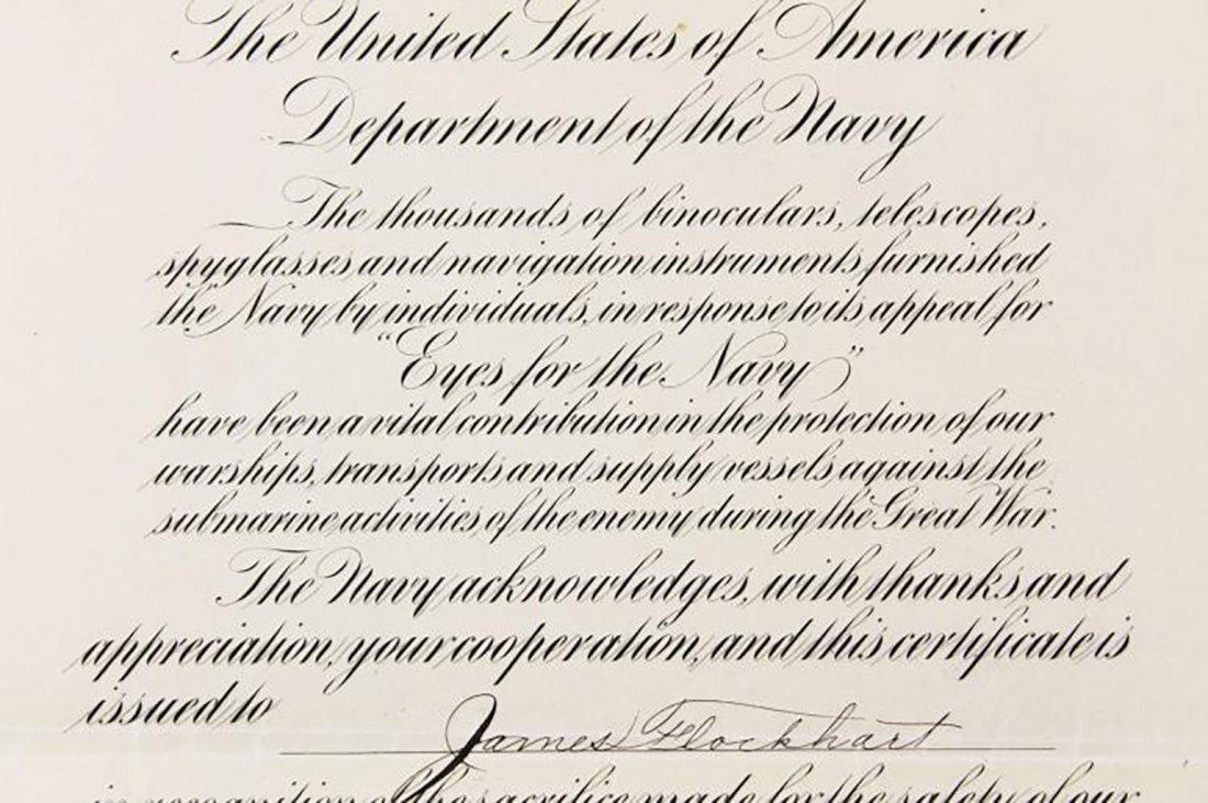 Franklin D. Roosevelt Boldly Signed Navy Presentation - 2