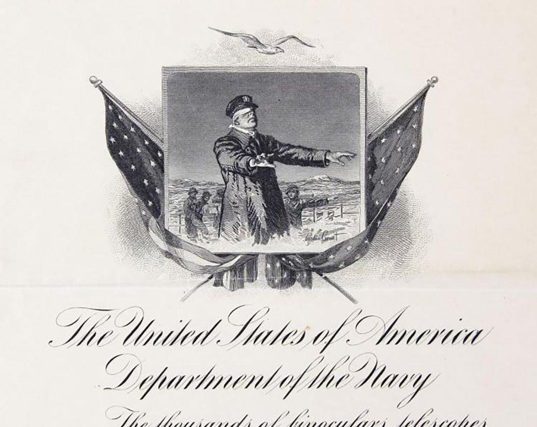 Franklin D. Roosevelt Boldly Signed Navy Presentation - 3