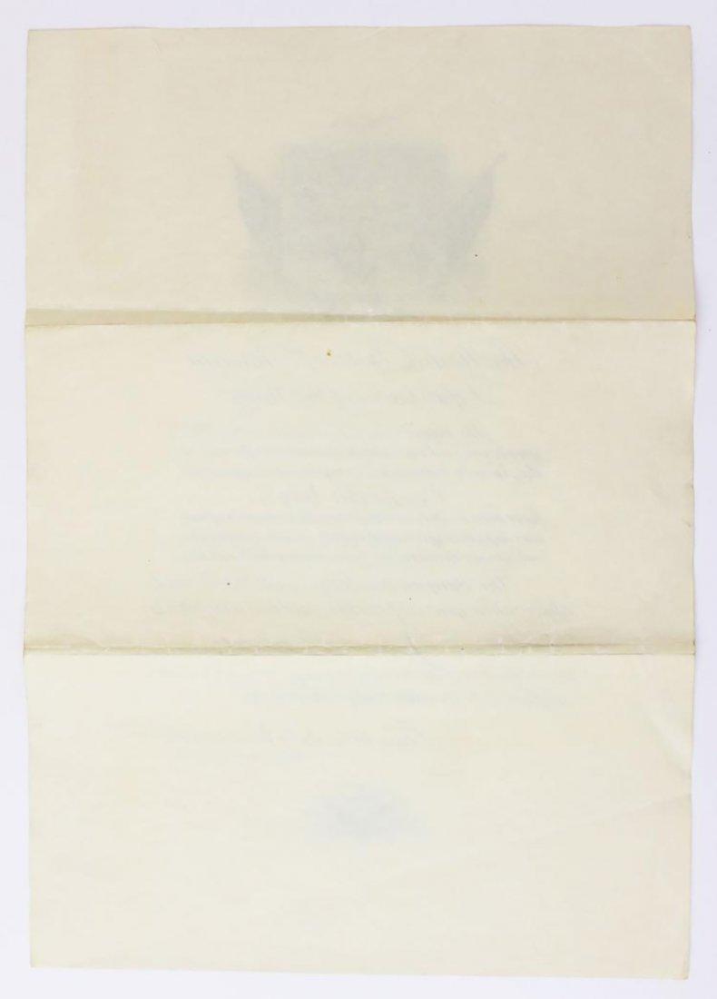 Franklin D. Roosevelt Boldly Signed Navy Presentation - 4