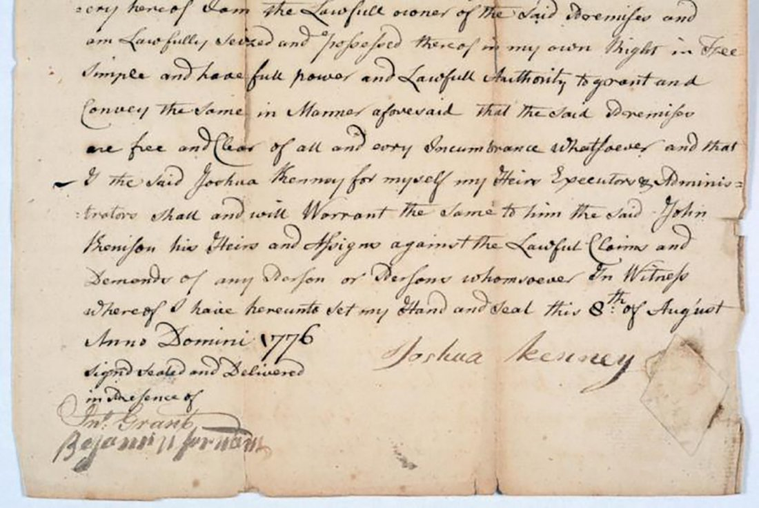 1776 Land Deed Signed After the Start of the Revolution - 3
