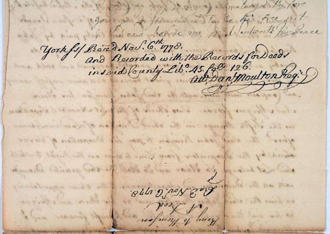 1776 Land Deed Signed After the Start of the Revolution - 4