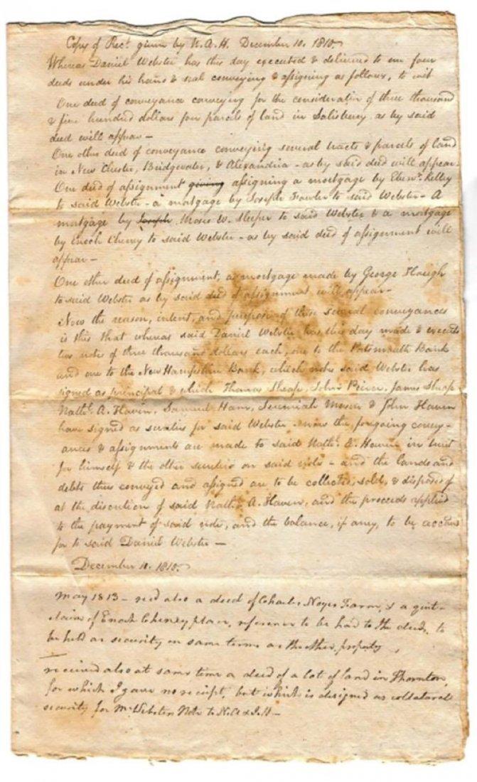Daniel Webster - Receipt for Deeds by Daniel Webster - 2