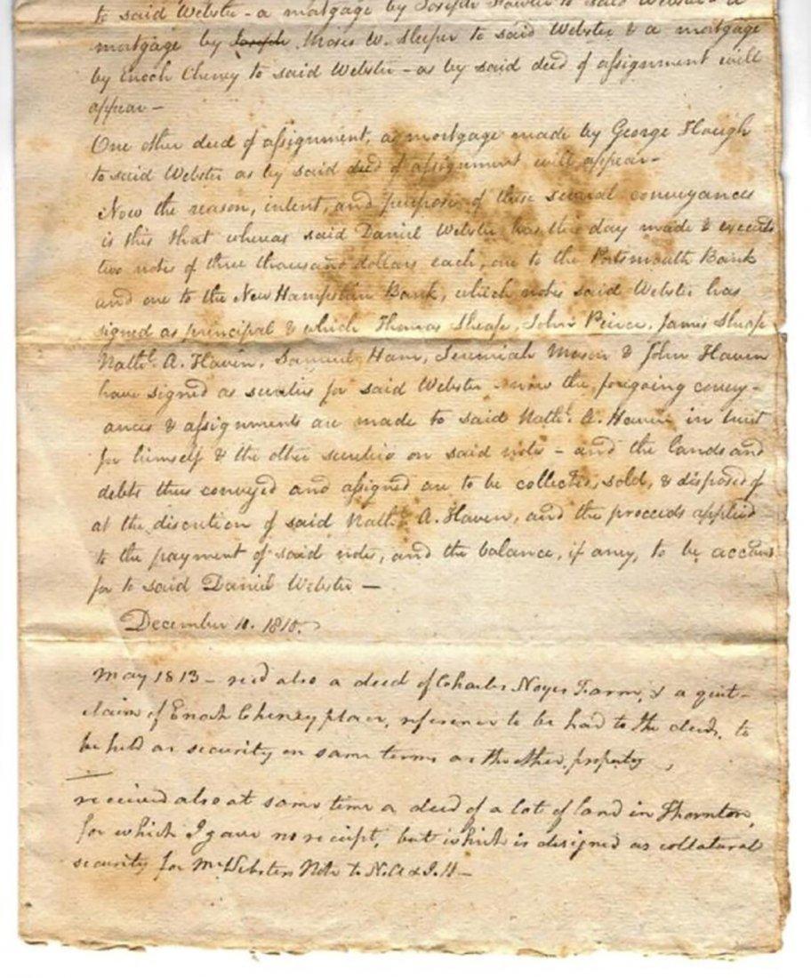 Daniel Webster - Receipt for Deeds by Daniel Webster - 3