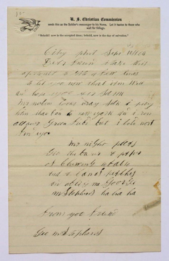 Civil War Dated Autograph Letter 1864