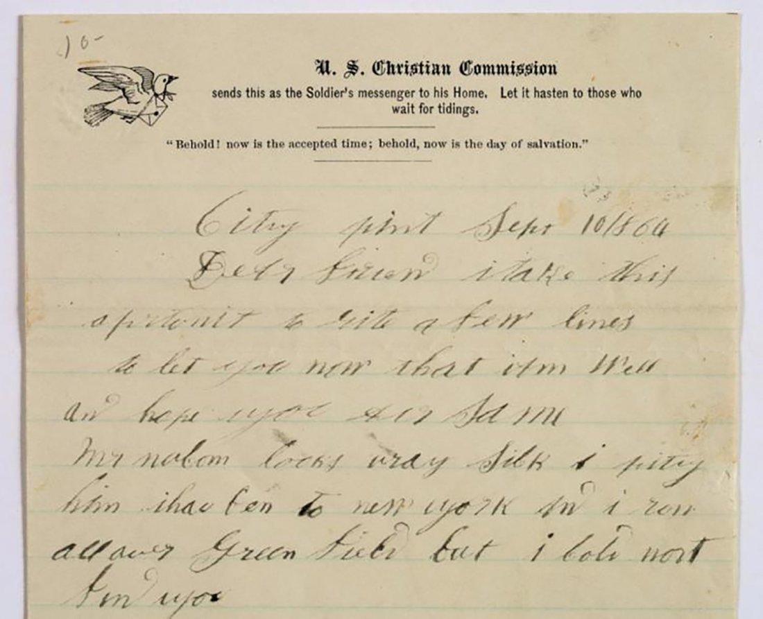 Civil War Dated Autograph Letter 1864 - 2