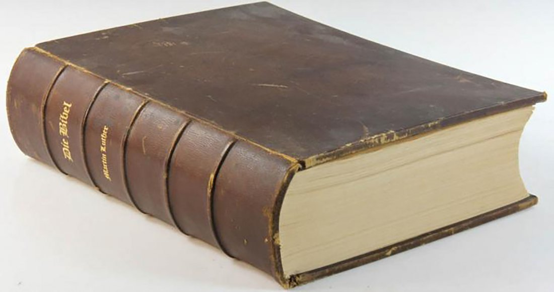 Large 19th Century Martin Luther Bible