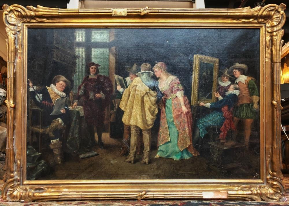 19th Century Oil Painting by Marten Eskil Winge