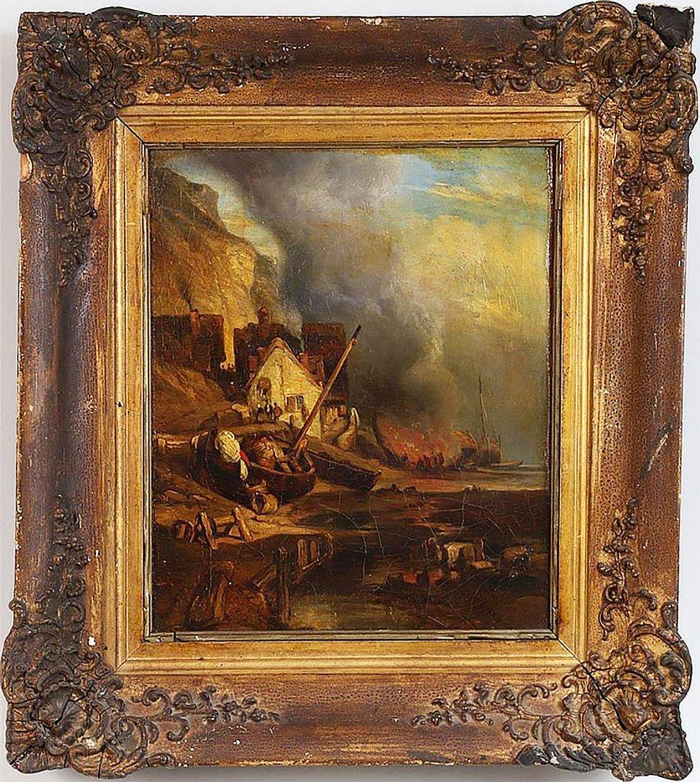 Original Richard Parkes Bonington Oil Painting