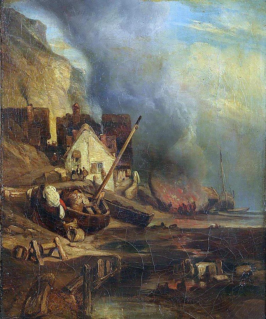 Original Richard Parkes Bonington Oil Painting - 2