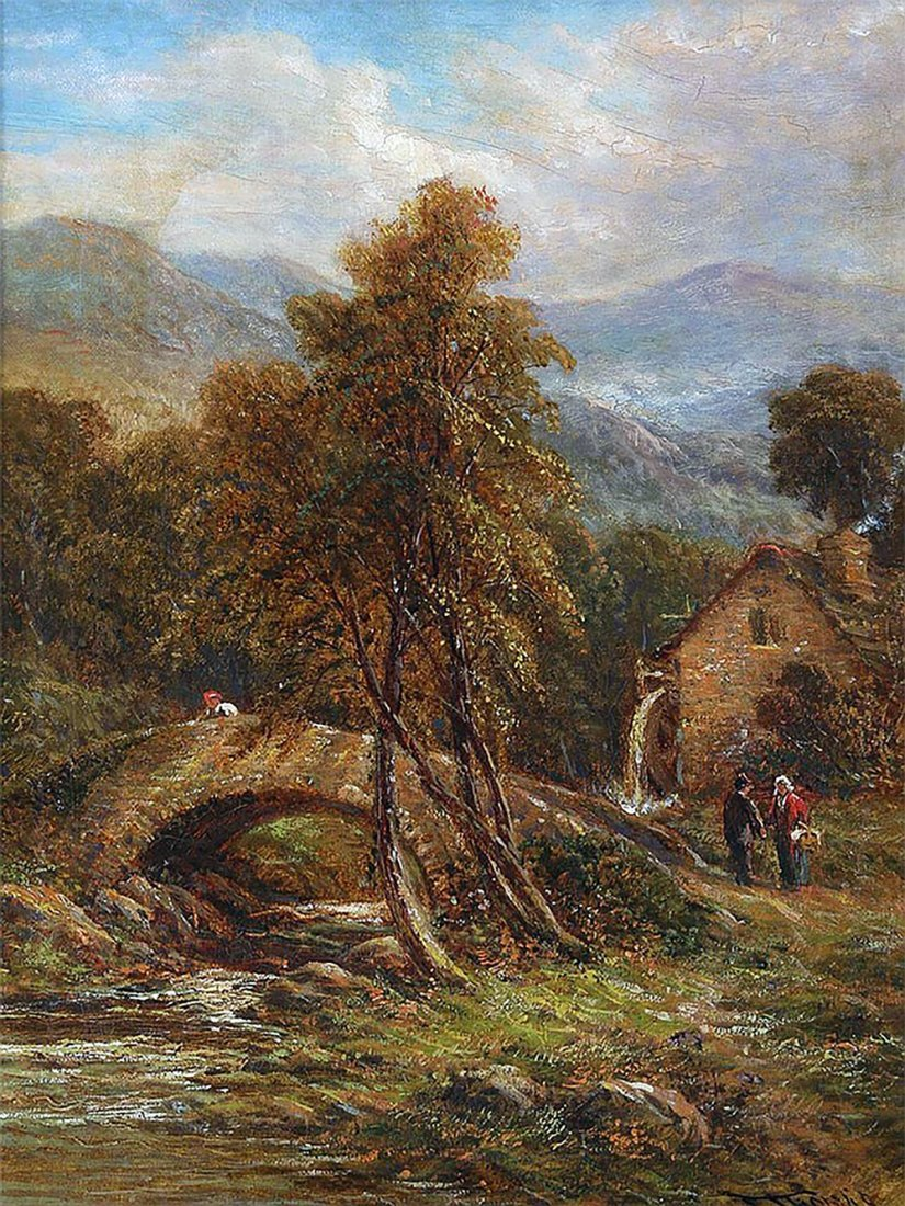 Pair of 19th Century Thomas Henry Landscape Oil - 6