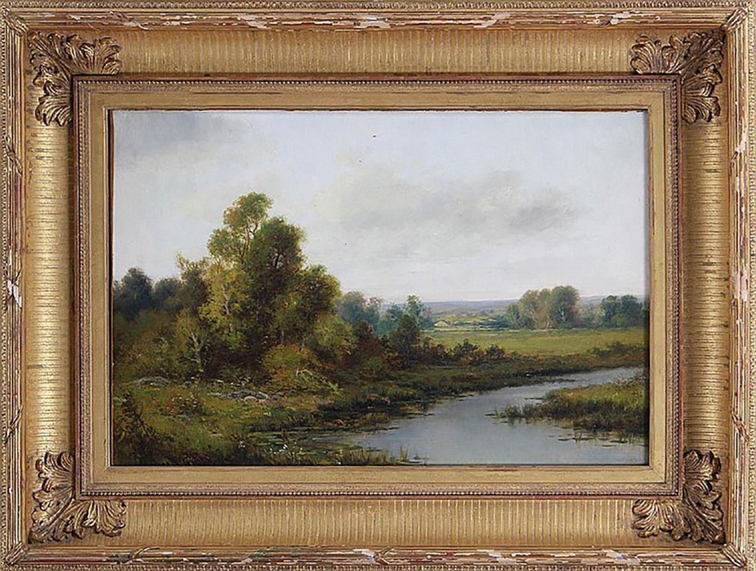 19th Century Landscape Oil Painting by Thomas Griffin