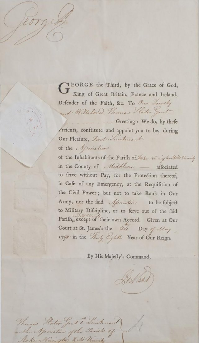 King George III Signed Document 1798 - 4